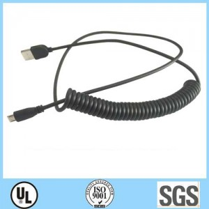 USB to Micro USB curly charging cord